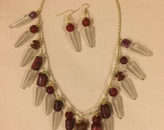 Coral and Carnelian Necklace
