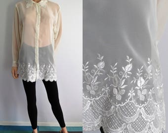 how to wear see through blouse