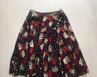 Kenzo floral cotton skirt