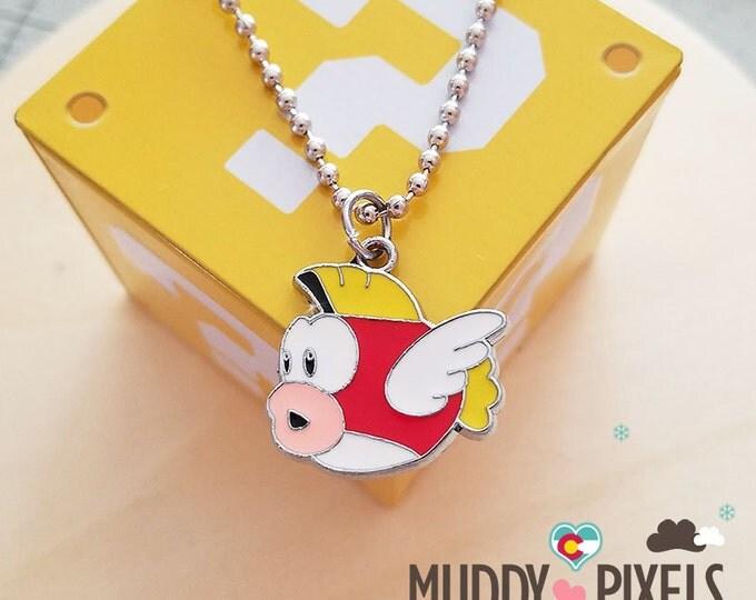 Mario Bros Necklace featuring Cheep Cheep