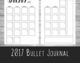 2017 Bullet Journal - Style 2 - US letter - A5