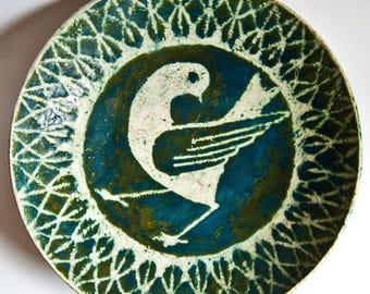 Danish Art Pottery, Mid-Century Studio Bowl by Herluf Gottschalck Olsen (G.O.)