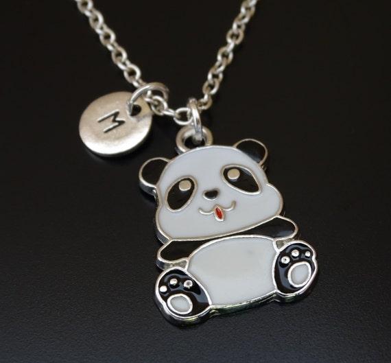 panda necklace panda charm panda pendant panda jewelry