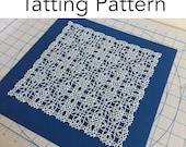"Tatting Pattern - ""Magic Square (Triangles Variation)"" - Instant Digital Download - PDF"