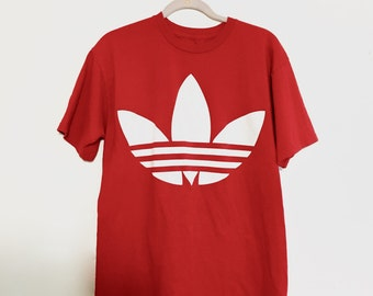 Vintage Authentic Red Adidas tshirt