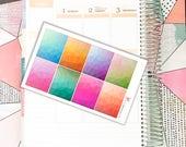Geometric Squares // Planner Stickers