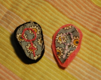 Hand Embroidered Female Symbol Pins
