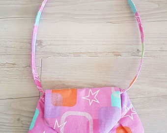 Little Miss Shoulder Bag - Pink Glitter - A great grab and go purse or little girls 'just like mummy' bag