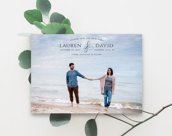 Printable Save the Date, Announcement, Save the Date Template, Photo Save the Date, Save the Date Magnet, Save the Date, PDF, The Lauren
