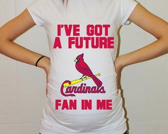 St Louis Cardinals Baby St. Louis Cardinals Shirt Women Maternity Shirt Funny Baseball Pregnancy Pregnancy Shirts Pregnancy Clothing
