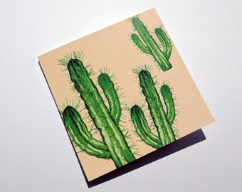 Cactus Card - Quirky Birthday Card - Cactus Birthday Card For Him - Cactus Illustrated Card - Birthday Card Her - Fun Card - Thank You Card