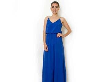 Blue Maxi Dress Long  Evening Summer Dress Prom Dress