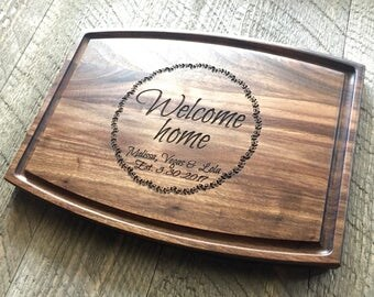 Real estate Closing Gift, Realtor marketing, Cutting board, Home sales, New Home, First Home, Welcome Home, Client gift, housewarming gift