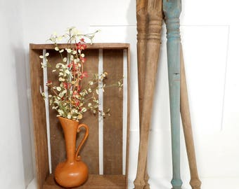Reclaimed Antique Table Legs, Vintage Farmhouse Table Legs, Salvaged Wooden Legs, Set of 4