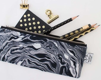 Marble pencil case//Pencil case//School supplies//Original ANJESY designs.