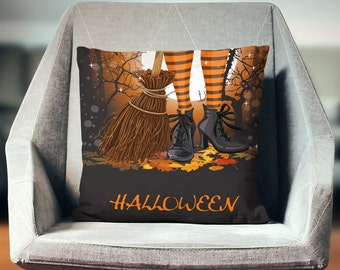 Witch Pillow | Witch Pillow Cover | Witch Decoration | Halloween Pillow | Witch Cushion | Witch Pillow Case | Witch Decor | Witch Home Decor