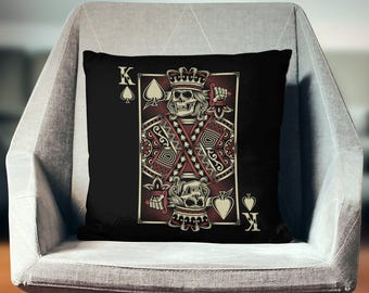 Poker Gifts | Poker Decor | Man Cave Decor | Poker Player Gifts | Man Cave Pillow | Man Cave Gifts