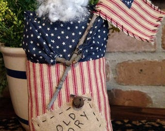 Americana Decor - USA Decor - Primitive Handmade Uncle Sam