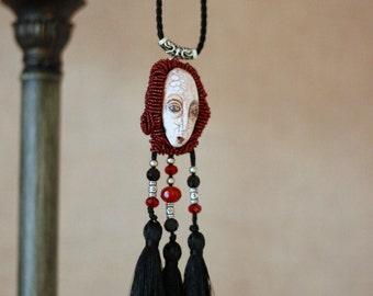 Jewelry necklace unique pendant - Modern jewelry - Jewelry pendants - Jewelry charms - Jewelry making charms - Boho Tassel Pendant - Art