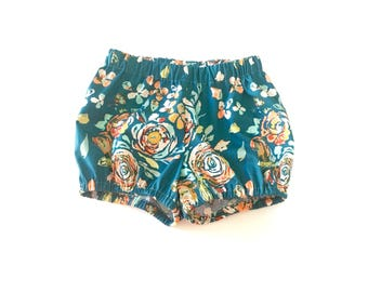 Bohemian Floral Bloomers, Baby Shorts, Girls Clothing, Capsule Pieces,  Baby Clothes, Summer Outfit
