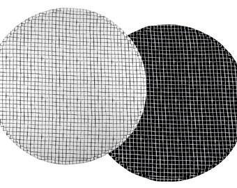 Padded Play Mat / Monochrome Baby Playmat / Round Baby Play Mat / Black And White Nursery / Kids Rug / Floor Rug / Handmade Baby Rug