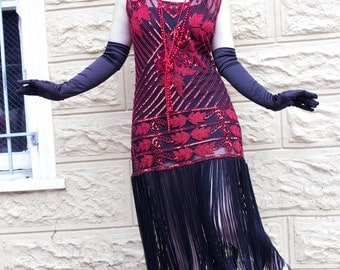 Harlow 1920s Style Beaded Dress