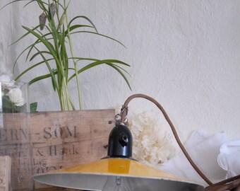 Hangende lamp - jaren 1940 hanger licht. Rustieke oude Werklamp - Vintage emaille lamp /Classic schoenmaker lamp, jaren 1940