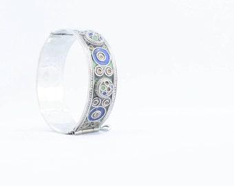 Berber hinge bracelet colors glazed, ethnic boho style