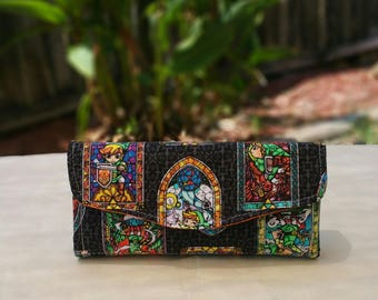 Stained Glass Zelda Phone Clutch Wallet