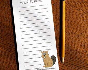 Stocking Stuffer - Gag Gift - Gifts under 10 - Busy Little Beaver Notepad