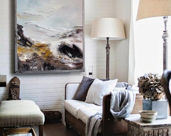 Abstract Painting, Contemporary Art, Oil Painting, Extra large wall art, Abstract art, Landscape oil painting, large canvas art, wall decor