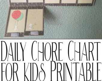 Grey Printable Chore Chart
