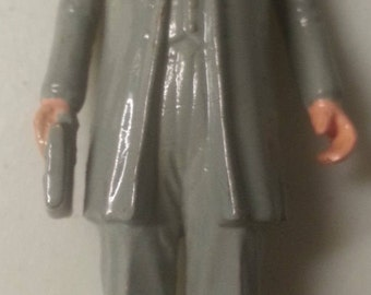 """Grover Cleveland VINTAGE MARX US President # 22 & 24 painted fig 2.75"""", G 1960s"""