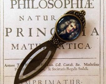 Isaac Newton Bookmark - Sir Isaac Newton Gift, Mathematics Bookmark, Principia Gift, Newtonian Bookmark, Physics Bookmark,  Scientist Gift