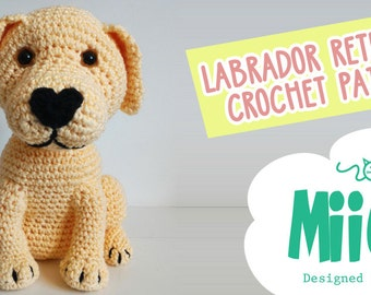 Labrador retriever dog crochet amigurumi miigu pattern