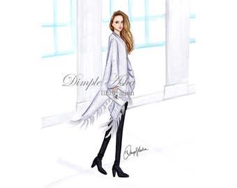 Fashion Illustration Print, Fashion sketch,Fashion art,Fashion illustration,Chic wall art, Fashion print, Fashion poster, Fashion Wall Art