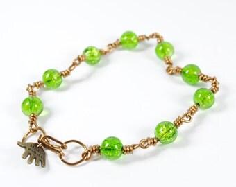 women's boho bracelet, beaded bracelet,  gift for mum, simple bracelet, delicate bracelet