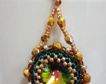 Bandora Swarovski Crystal and Seed Bead Earrings