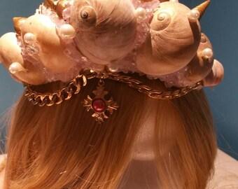 Enchanting Seashell Mermaid Princess Crown