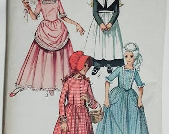 1970 Simplicity Costumes Girls Pilgrim, Victorian, Marie Antoinette, Prairie Size 14 UNCUT FF Sewing Pattern ReTrO Halloween!