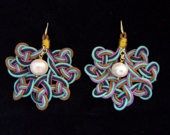 Earrings with knots handmade Made in Italy