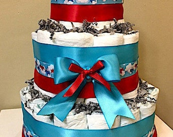 Airplane Diaper Cakes, Airplane Decorations, Airplane Baby Shower, Airplane Birthday, Airplane Centerpiece, Airplane Candy Cups, Red & Blue