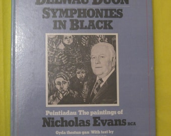 Symphonies in Black. Rhoda Evans. Signed. 1st Edition