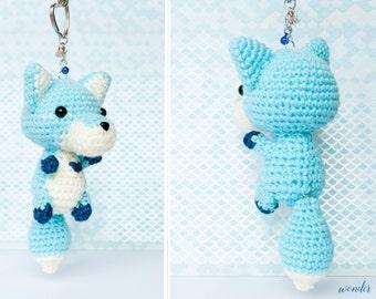 Fox Amigurumi Keychain, crochet fox, fox plushie, cute keychain, amigurumi keychain, fox stuffed animal, cute bag charm, fox charm, cute fox