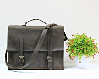 Mens messenger bag, leather ipad bag, mens satchel, leather satchel, leather briefcase, soft leather bag, mens weekend bag, mens messenger