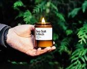 Meersalz & Birke duftenden Soja-Kerzen