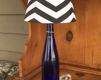 Cobalt Glass Table Lamp (750ml Bottle)