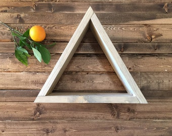 Wood triangle shelf. Geometric. Pyramid handmade