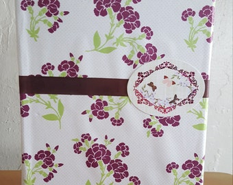Beige and Violet Floral Homemade and Homebound BoundEra Journal