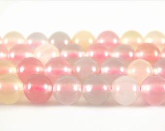 8mm morganite quartz beads multicolor quartz transparent beads transparent stones multicolor mala under 5 womens beads rainbow quartz beads